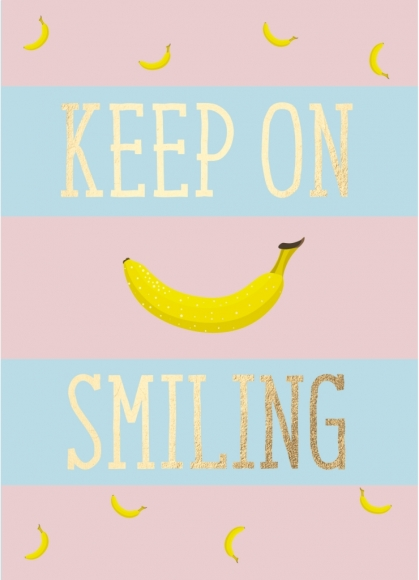 Postkarte: Keep on Smiling