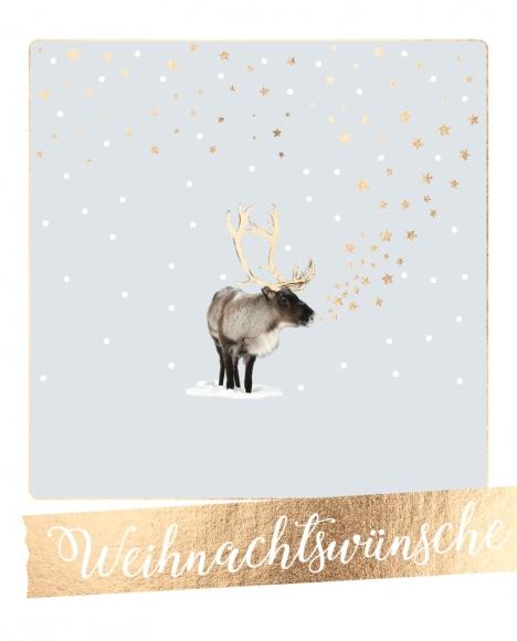Postkarte: Weihnachtswünsche