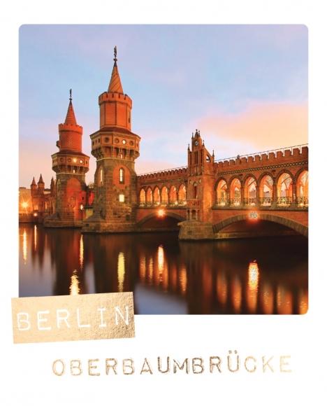 Postkarte: Berlin, Oberbaumbrücke