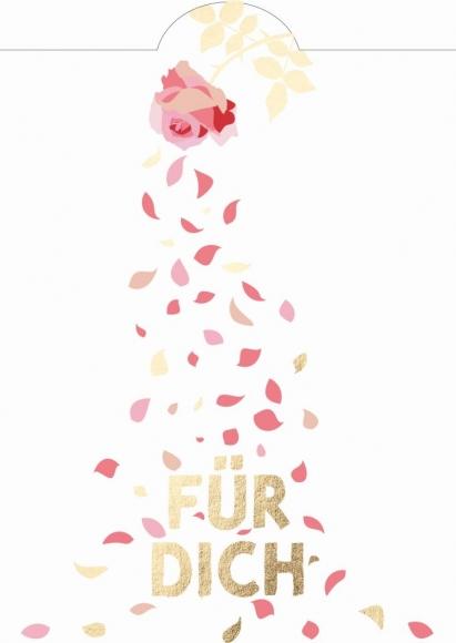 Postkarte: Für Dich - Rosenblüten