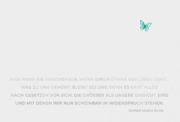 Doppelkarte: Man muss nie verzweifeln (Rilke)