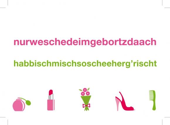 Postkarte: nurweschedeimgebortzdaach
