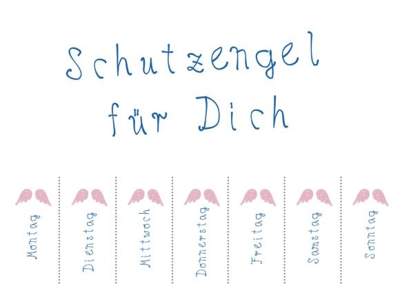 Postkarte: Schutzengel für Dich