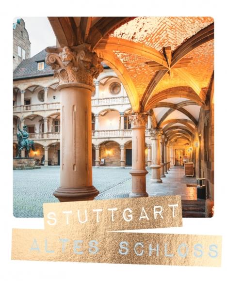Postkarte: Stuttgart Altes Schloss