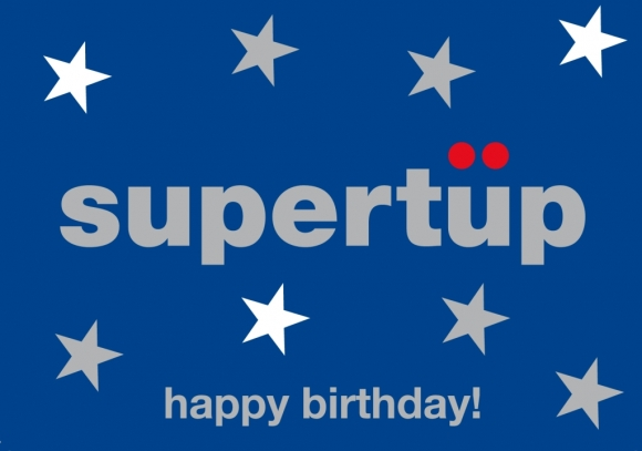 Doppelkarte: supertüp - happy birthday