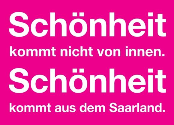 Postkarte: Schönheit kommt aus dem Saarland