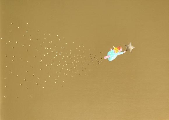 Postkarte: Fliegender Engel