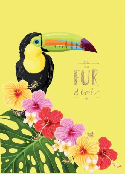 Postkarte: Für Dich - Tukan