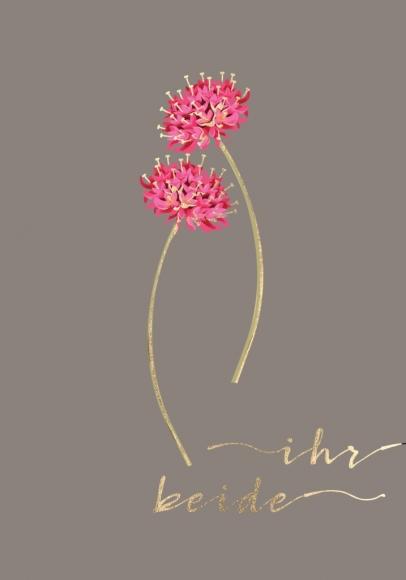 Doppelkarte: Ihr Beide - 2 Kleeblüten