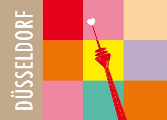 Postkarte: Düsseldorf Quadrate