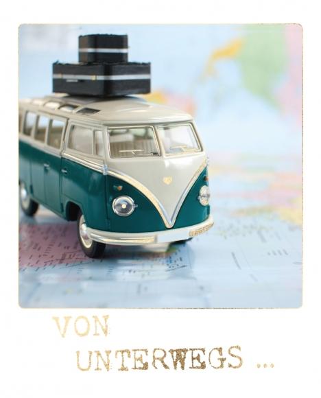 Postkarte:... von unterwegs