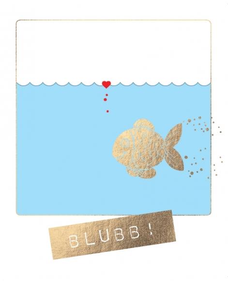Postkarte: Blubb!