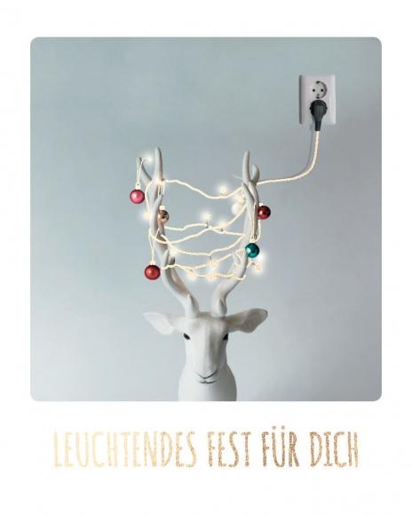 Mini-Postkarte: Leuchtendes Fest für Dich