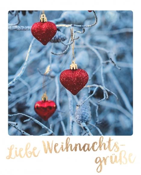 Postkarte: Liebe Weihnachtsgrüße