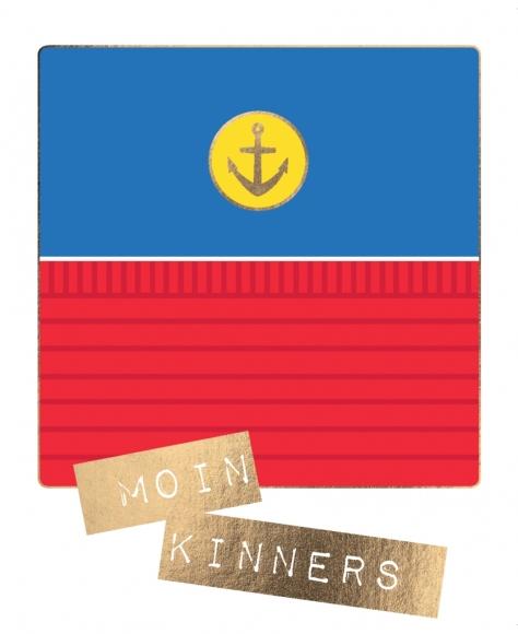 Postkarte: Moin Kinners