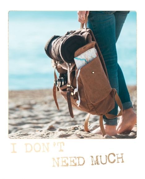 Postkarte: I don't need much