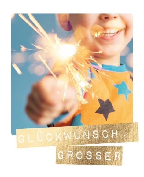Postkarte: Glückwunsch, Großer