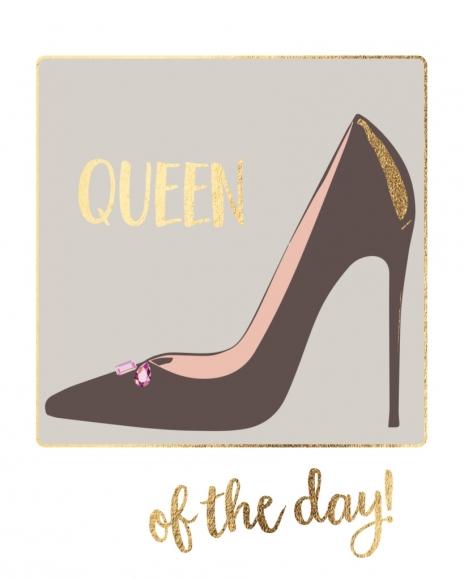 Doppelkarte: Queen of the day