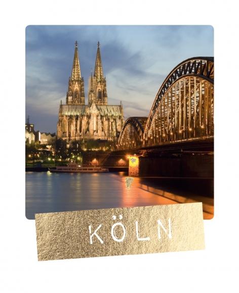 Mini-Postkarte: Köln
