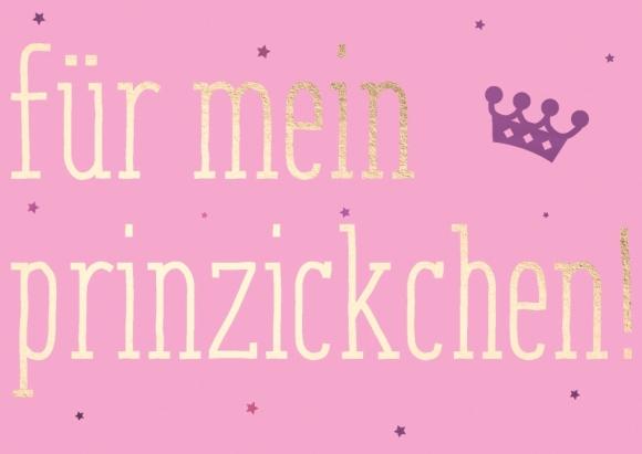 Postkarte: Für mein Prinzickchen!