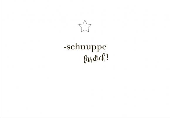 Postkarte: Sternschnuppe für dich!