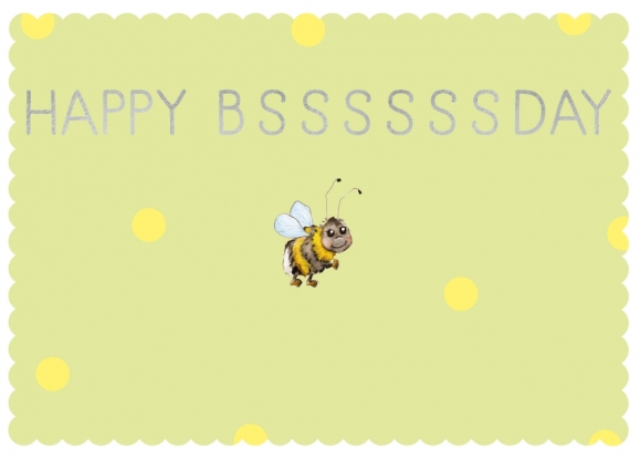 Postkarte: HAPPY BSSSSSSDAY