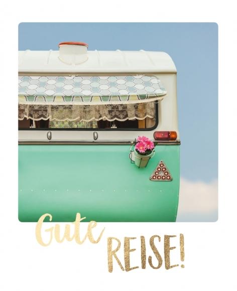 Postkarte: Gute Reise!