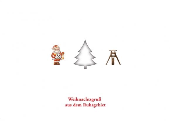 Postkarte: Weihnachtsgruß aus dem Ruhrgebiet