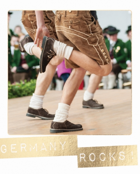 Postkarte: Germany rocks