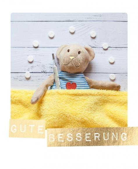 Postkarte: Gute Besserung