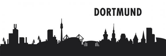 Autoaufkleber Dortmund Skyline schwarz