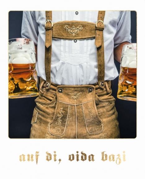 Postkarte: auf di, oida bazi