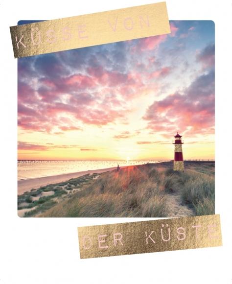 Postkarte: Küsse von der Küste