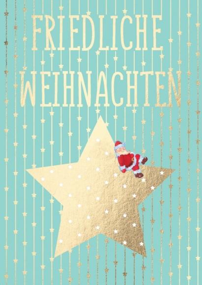 Postkarte: Friedliche Weihnachten
