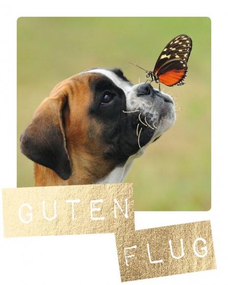 Mini-Postkarte: Guten Flug