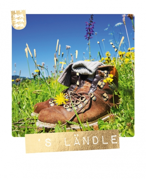 Postkarte: 'S Ländle