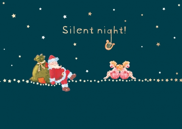 Postkarte: silent night