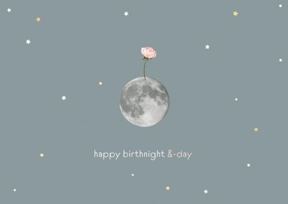 Postkarte: Happy Birthnight & -day
