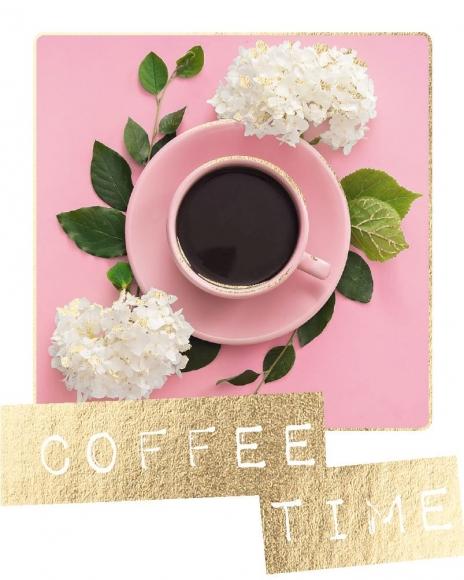Mini-Postkarte: Coffee time