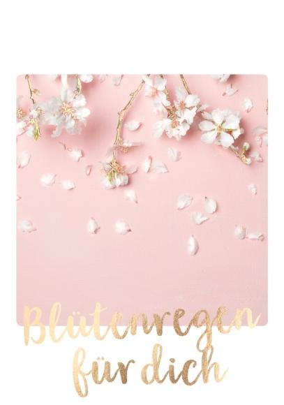 Doppelkarte: Blütenregen für dich