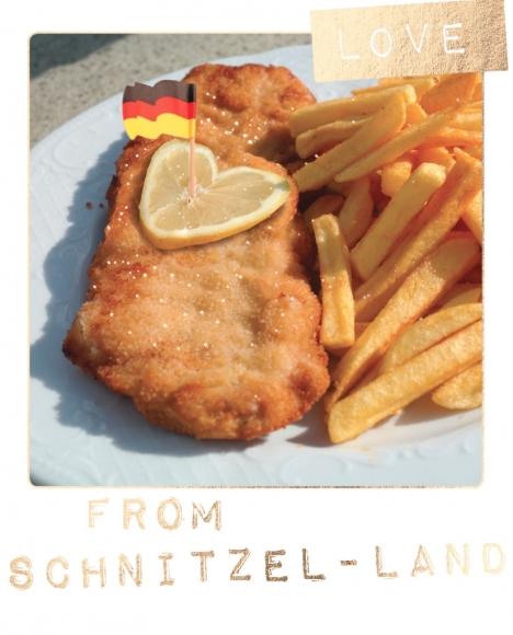 Postkarte: Love from Schnitzel-Land