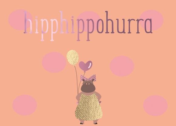 Postkarte: hipphippohurra