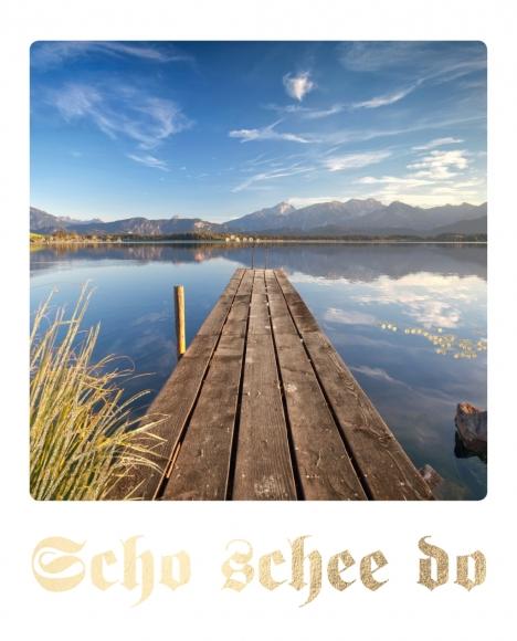 Postkarte: Scho schee do