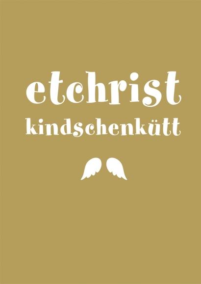 Postkarte: Et Christkindschen kütt
