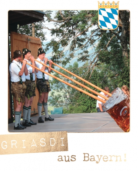 Postkarte: Griasdi aus Bayern!