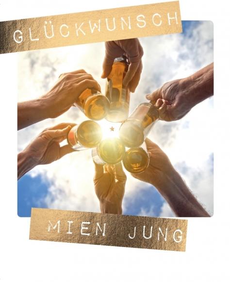 Postkarte: Glückwunsch mien Jung