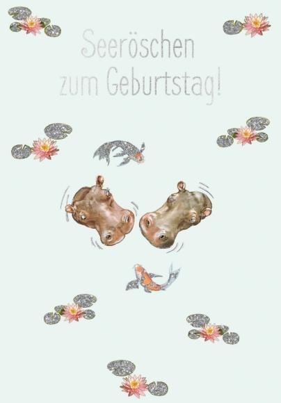 Postkarte: Seeröschen zum Geburtstag