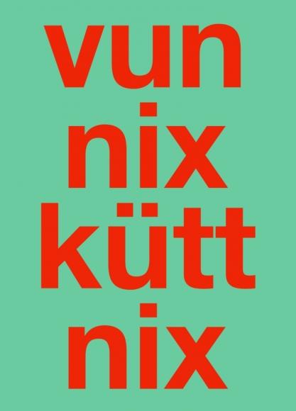 Postkarte: vun nix kütt nix