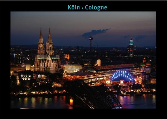 Postkarte: Köln im Abendlicht