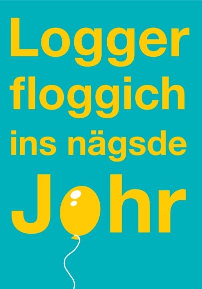 Doppelkarte: Logger floggich ins nägsde Johr